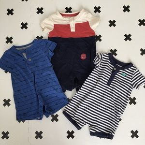 fdaf6a865 Shirts & Tops | Baby Boy Shirt Lot 36 Months Onesies Rompers | Poshmark
